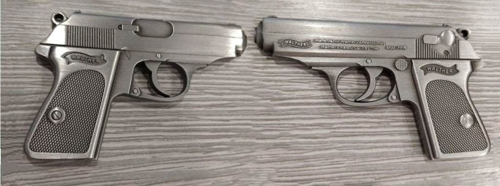Right and Left View of the Walther PPK